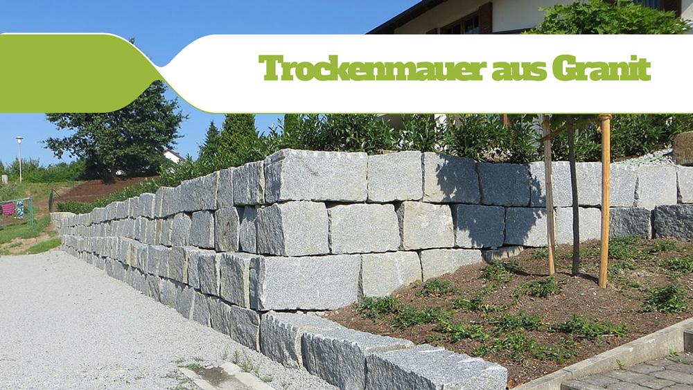 Rauscheröder Trockenmauer Mit Granitblöcken
