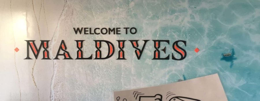 Unser Bagger auf den Malediven