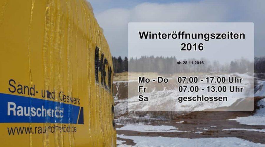 Öffnungszeiten Dezember 2016