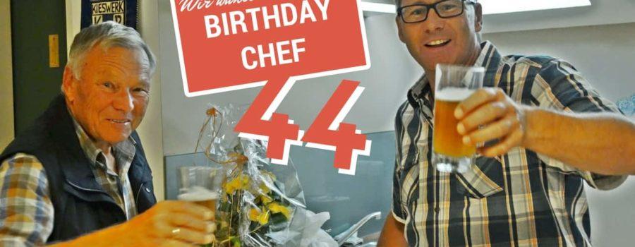 Der Chef hat Geburtstag