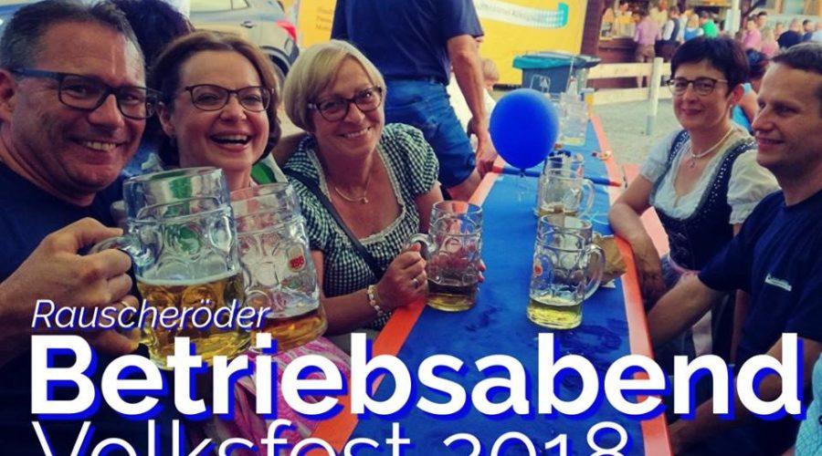 Betriebsabend Volksfest 2018