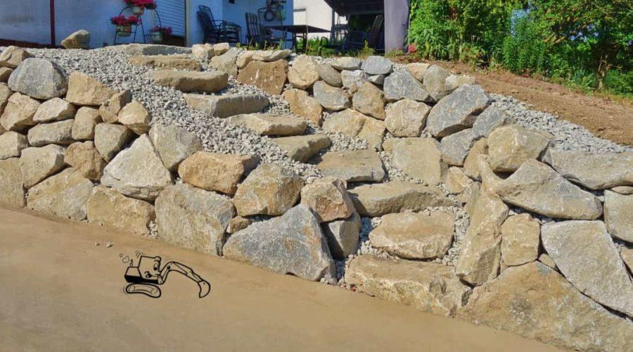 Zufahrt mit Rauscheröder Mauer