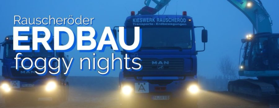 Erdbau im Nebel – Video