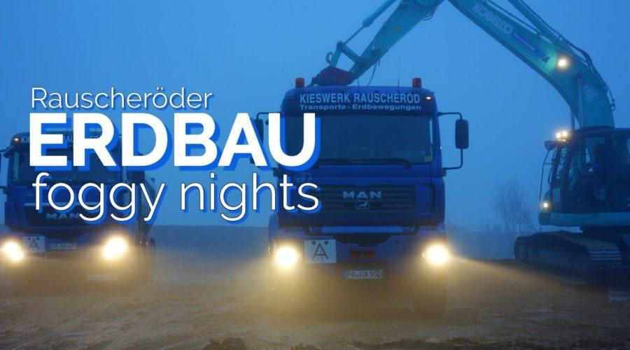 Erdbau im Nebel – Video